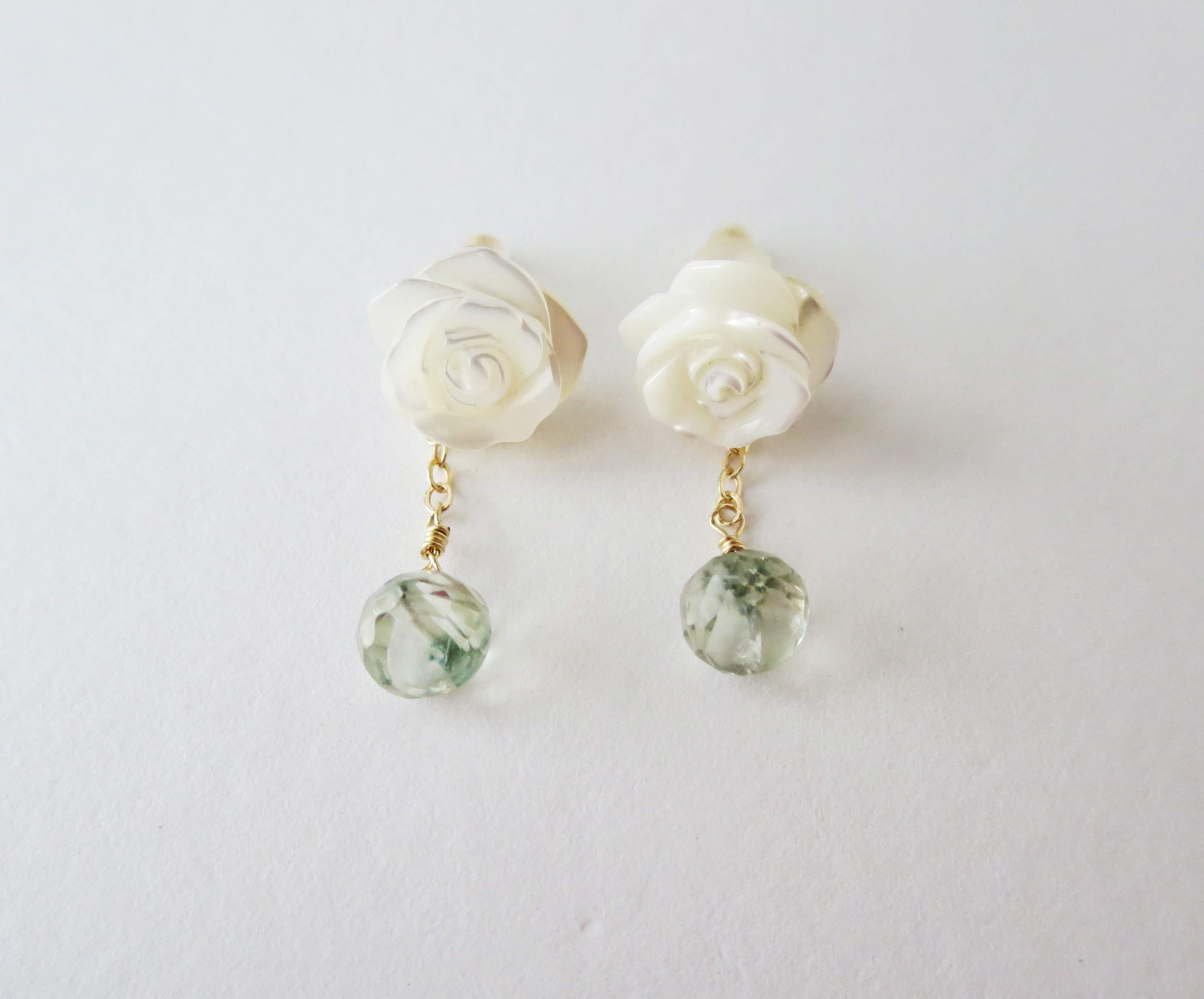 Shell&Green amethyst earrings3