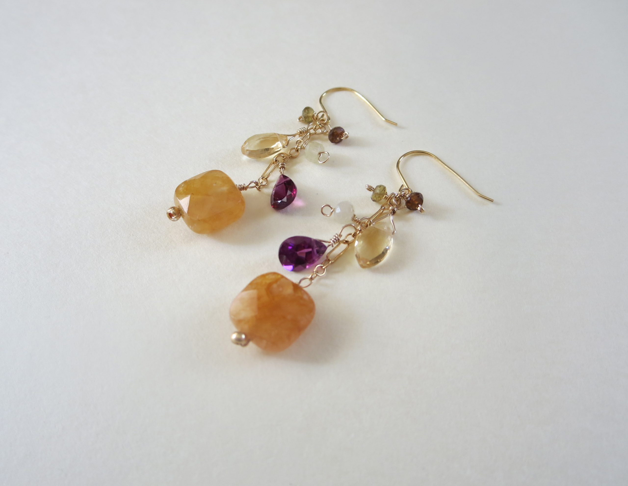 carnelian garnet earrings