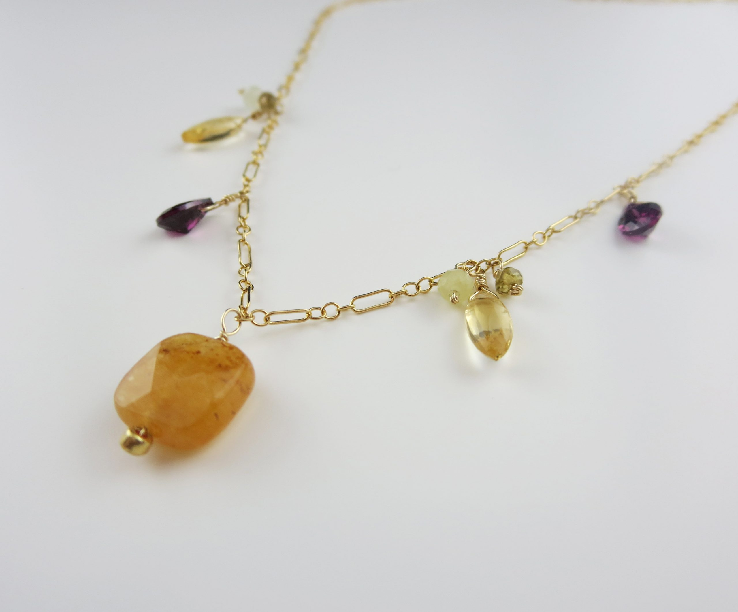 Carnelian and garnet necklace
